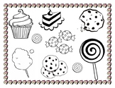 Sweets Coloring Page