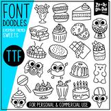 Sweets Doodle Font {Zip-A-Dee-Doo-Dah Designs}