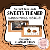 Sweets-Themed Digital Task Cards for Speech and Language T
