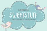 Sweetstuff Typeface, Handlettered Font and Bonus Doodles