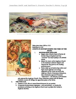 Swift and Gulliver's Travels Teacher's Notes