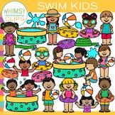 Kids Swimming Clip Art {Summer Clip Art}