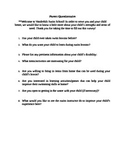 Swim Lesson Parent Questionnaire (special needs lessons)