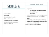 Swim Lesson (or camp) Skills