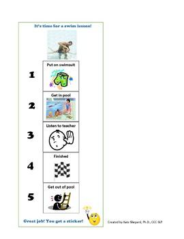 Swim Lessons Picture Schedule