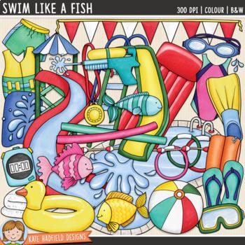 "Swimming Clip Art: ""Swim Like a Fish"""