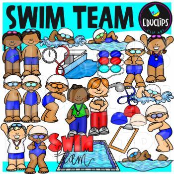 Swim Team Clip Art {Educlips Clipart}