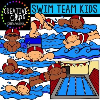 Swim Team Kids {Creative Clips Digital Clipart}