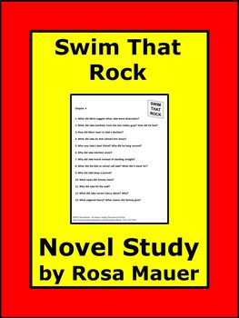 Swim That Rock Jr. High Book Study Reading Comprehension