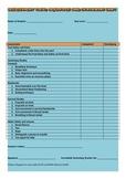 Swimming / Aquatic Unit Assessment Sheet