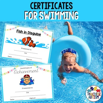 Swimming Award Certificates