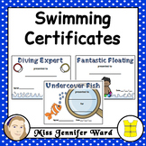 Swimming Certificates / Awards