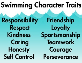 Swimming Character Traits