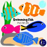 Swimming Fish Clip Art