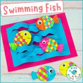 Swimming Fish Craft - Summer Ocean Cut and Glue Activity