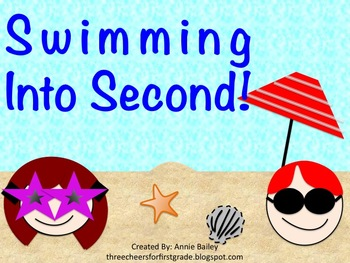 Swimming Into Second Grade: A Summer Pack for Rising Second Graders