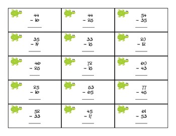 Swimming Into Subtraction Common Core Math Game