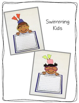 Swimming Kids Craftivity
