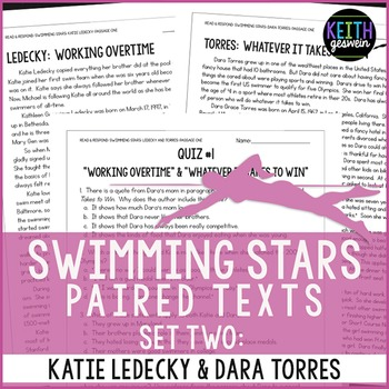 Swimming Paired Texts: Katie Ledecky and Dara Torres: Nonfiction Passages