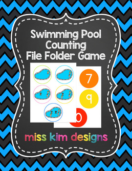 Swimming Pool Counting File Folder Game for Special Education