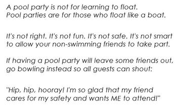 Swimming Pool Safety for Kids Poem
