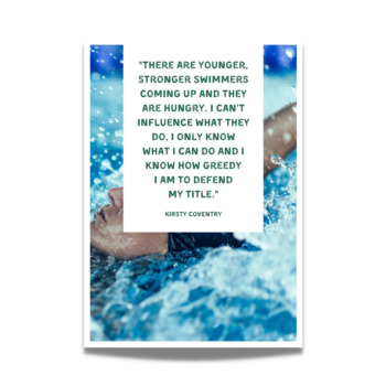 Swimming Posters - 20 Great Quotes About Swimming for Sports Bulletin Boards