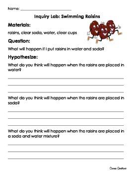 Swimming Raisins Inquiry Lab (Dancing Raisins)
