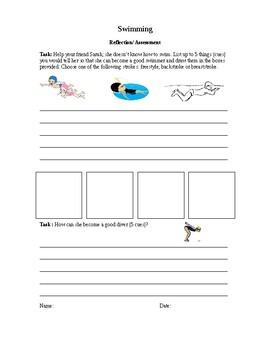Swimming assessment- written reflection PYP