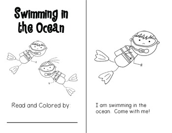 Swimming in the Ocean {Emergent Reader}