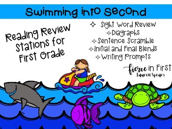 Swimming into Second Grade ~ 1st Grade Reading Review Stations