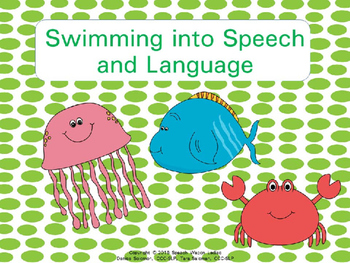 Swimming into Speech and Language Decor