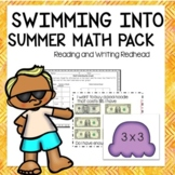 Summer Math Practice   End of the year Printables Task Cards Games and More