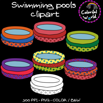 Summer - Swimming pools clipart