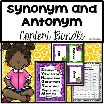 Synonym And Antonym Anchor Charts Teaching Resources Teachers Pay