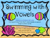 Swimming with Vowels- CCSS ELA Grade 1- Sort long and short vowels