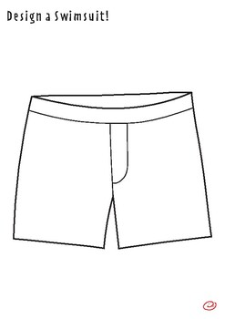 Swimsuit Coloring Activity