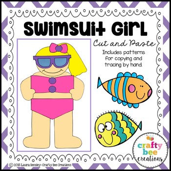 Swimsuit Girl Cut and Paste