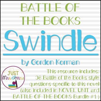 Swindle Battle of the Books Trivia Questions
