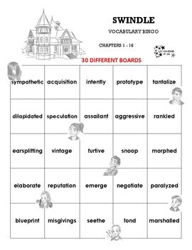 Swindle Vocabulary Bingo