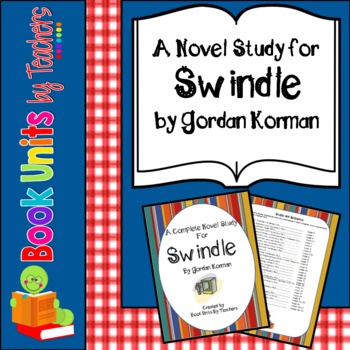 Swindle by Gordon Korman Book Unit and Activities