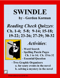 SWINDLE by Gordon Korman - Novel Quizzes and Activities