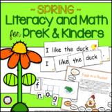 Spring PreK and Kindergarten Literacy & Math Activities