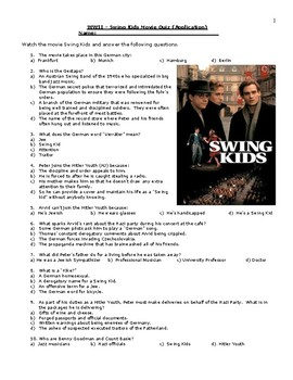 Swing Kids Quiz