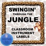 Swingin' Through the Jungle - Classroom Instrument Labels