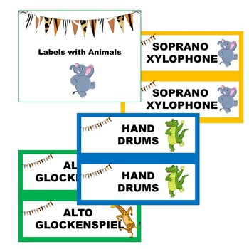 Swingin' Through the Jungle - Classroom Instrument Labels