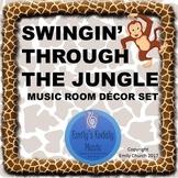 Swingin' Through the Jungle Music Room Decor Set
