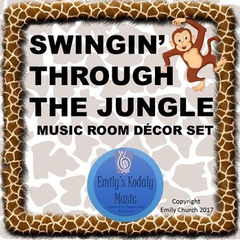 Swingin' Through the Jungle Music Room Decor Set