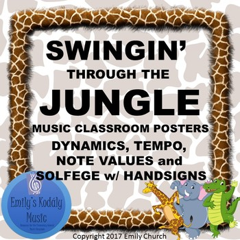 Swingin' Through the Jungle Music Room Posters