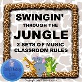 Swingin' Through the Jungle- Music Room Rules