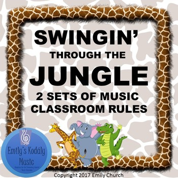 Swingin' Through the Jungle- Music Room Rules